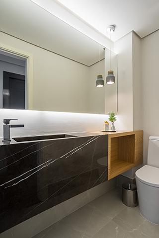 Banheiro social Tieppo Interiores