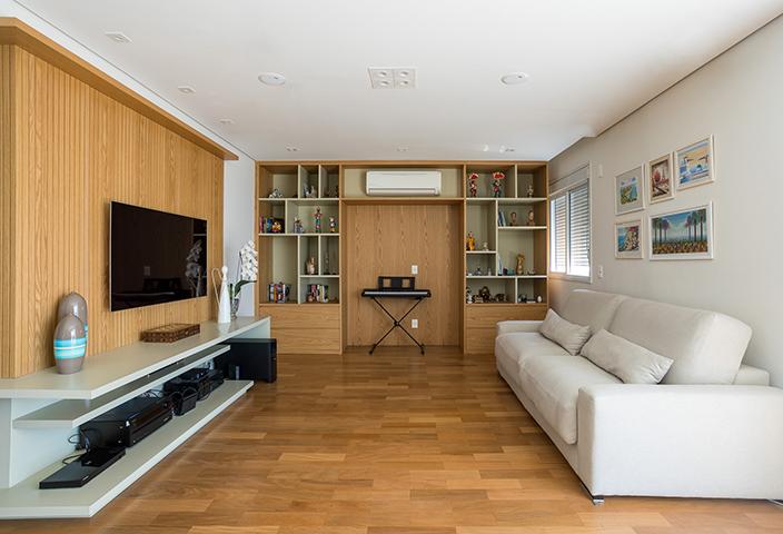 Sala de Estar Apartamento Casal Tieppo Interiores