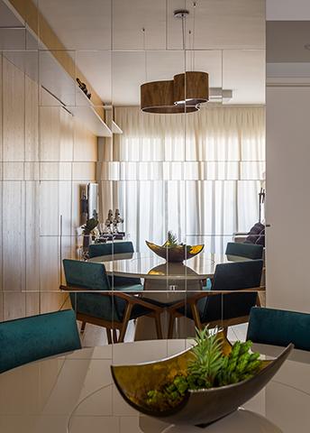 Sala de Janat Apartamento de Jovem Solteiro Tieppo Interiores