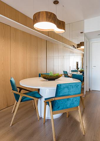 Sala de Jantar Apartamento de Jovem Solteiro Tieppo Interiores
