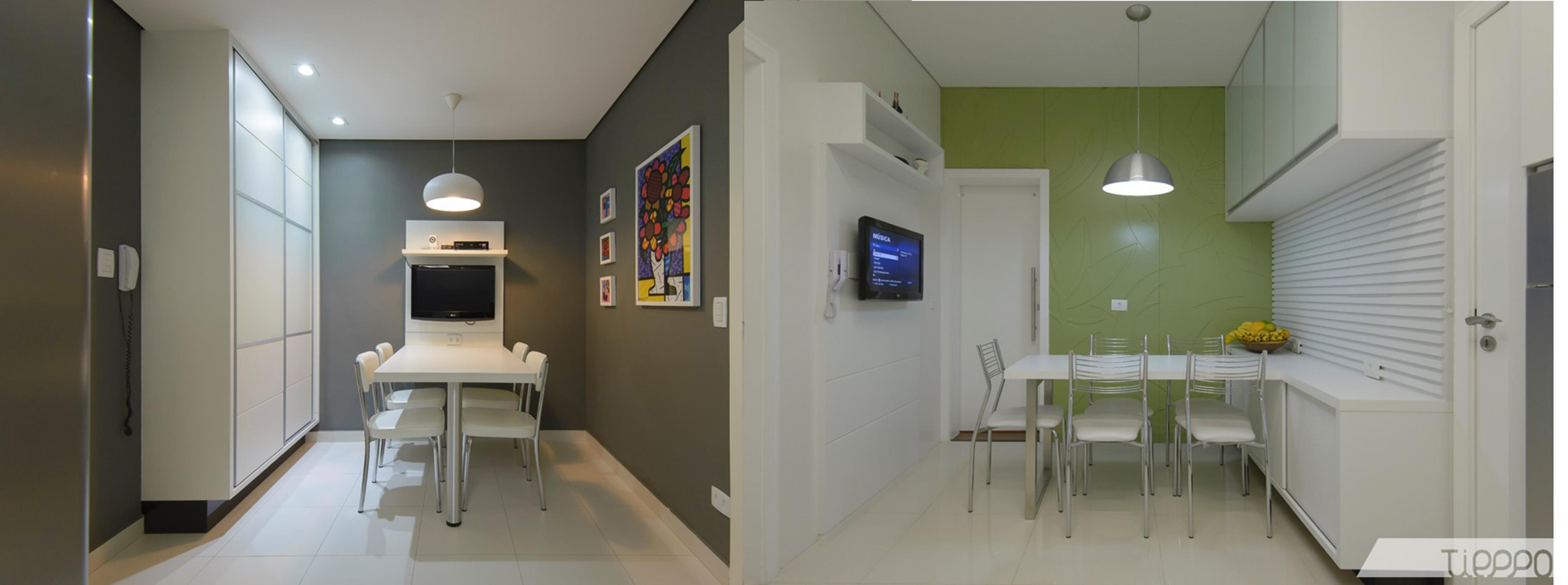 Duas visões de um mesmo apartamento Tieppo #384070 5000 1865