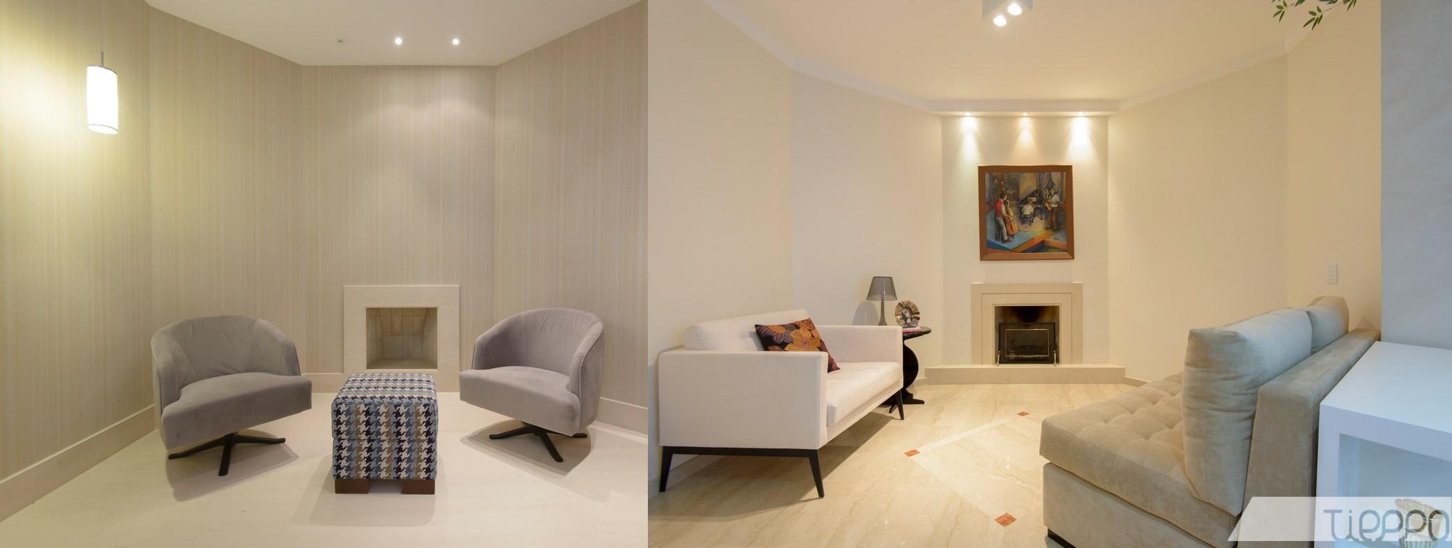 #986133 sala de lareira ficou mais ampla com o uso de papéis de parede 2082x786 píxeis em Decoração De Sala Pequena Com Lareira De Canto