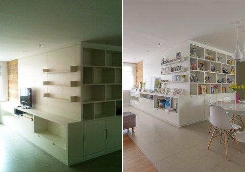 Antes e Depois - Living