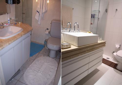 Antes e depois - Banheiro