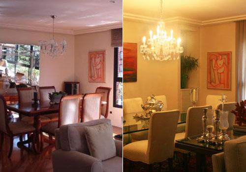 Antes e depois - Sala de jantar