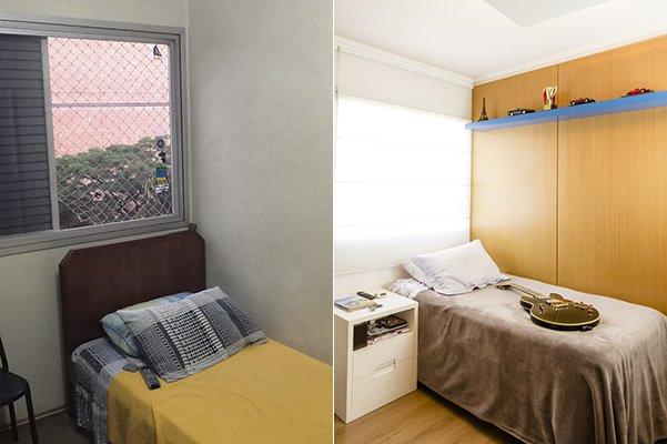 dormitorio azul cama ae