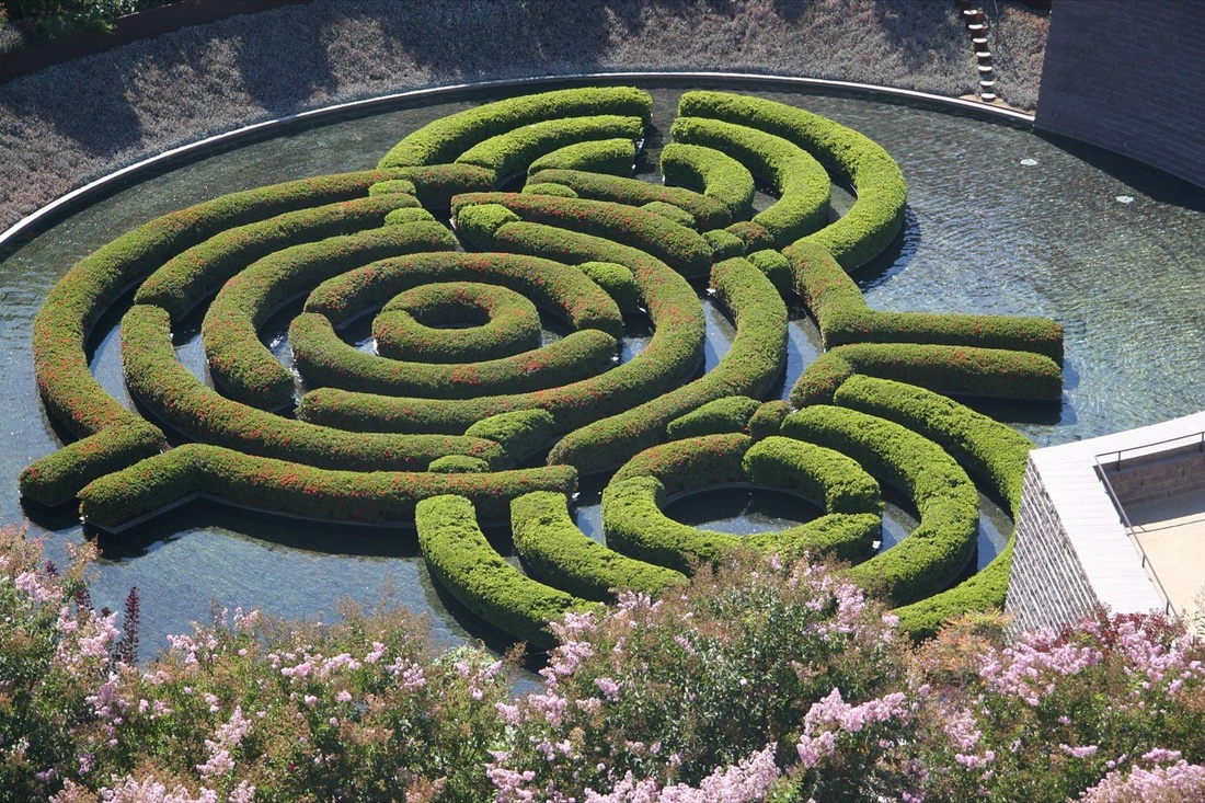 Robert Irwin CENTRAL GARDEN AT THE GETTY CENTER, LOS ANGELES