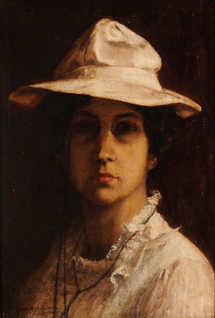 Georgina de Albuquerque, Autorretrato, 1904, Óleo sobre tela, Museu Nacional de Belas Artes (Cesar Barreto/Instituto Tomie Ohtake)