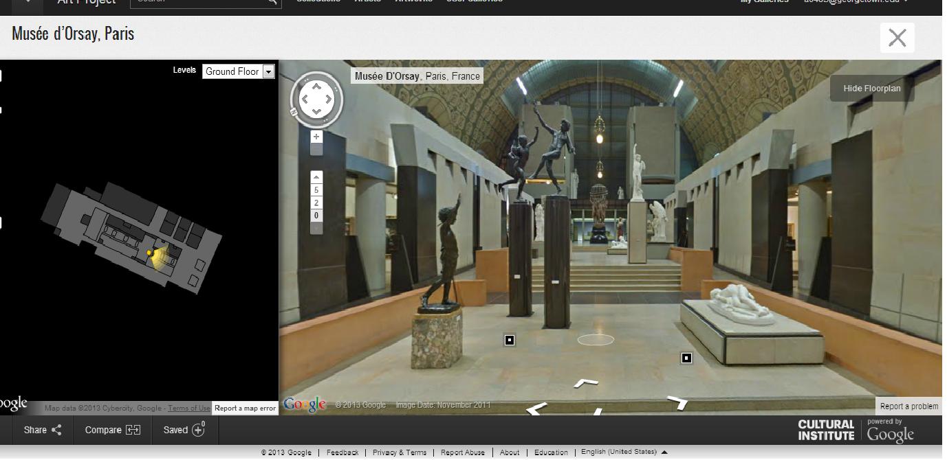 Musée d'Orsay, em Paris. (Foto: Reprodução/Google)
