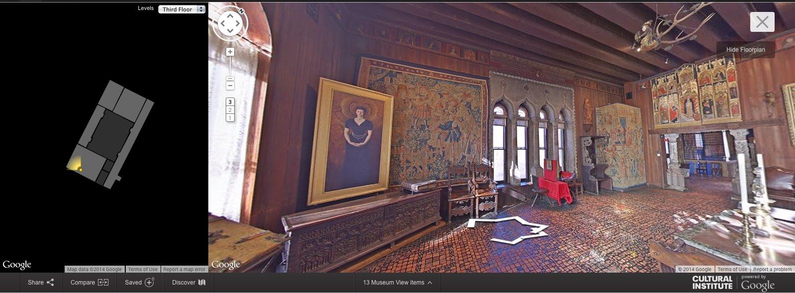 Isabella Gardner Museum, em Boston. (Foto: Reprodução/Google)